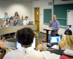 Wake Forest political science professor Michael Pisapia teaches his class on modern political thought in Kirby Hall.