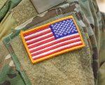 U.S. flag patch on a military uniform