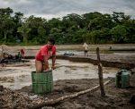 A gold miner in Peru