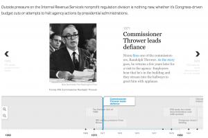 An image of a slide from a TimelineJS timeline.