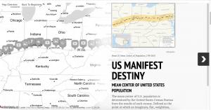 A screen shot of an interactive StormMapsJS map.