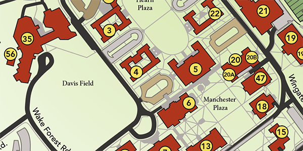 Maps  About Wake Forest  Wake Forest University