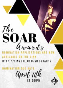 2016-17 SOAR Awards nominations