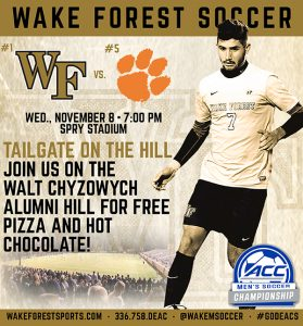 WFU Soccer November 8 Spry Stadium