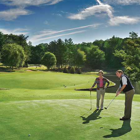 Golfing at Tanglewood Park