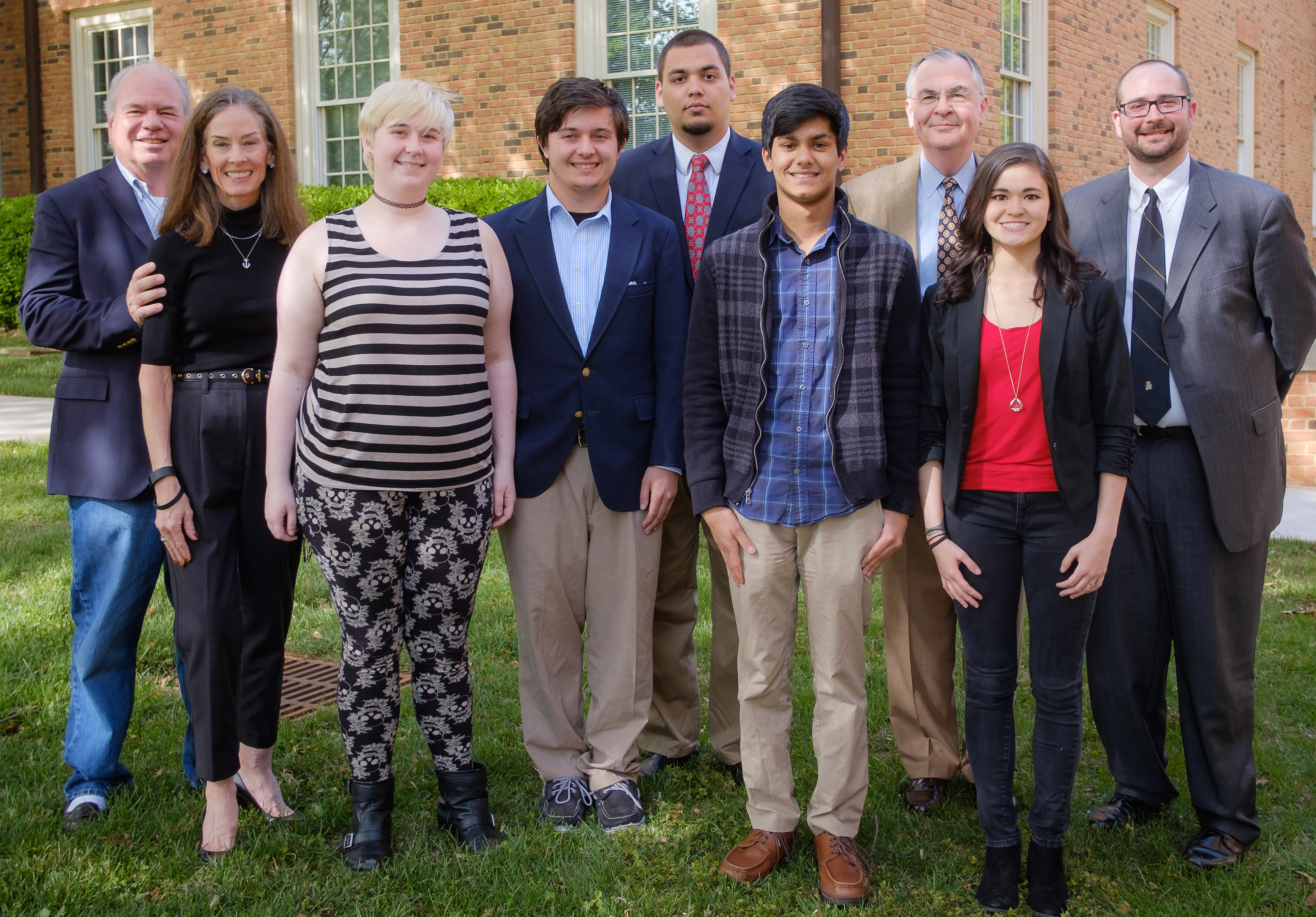 In 2016, Wake Forest debaters were awarded Salzman-Medica Scholarships funded by John and Megan Medica, left.