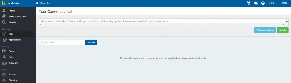 Career Journal Screenshot