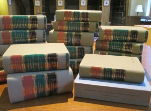 Walker Nolan has donated his personalized bound-volumes of the Watergate Committee's final report and a copy of John Dean's testimony to the Z. Smith Reynolds Library.