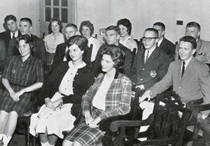 From 1962, Student Government, Mary Martin Pickard Niepold is second from right.