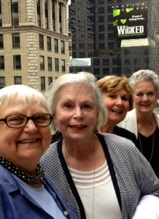 Sue Fulkerson O'Connor (from left), Judy Palmer Newsoroff, Kay Overman Ferrell and Mary Martin Pickard Niepold