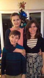 Frazier with her children, Nicholas and Juliette.