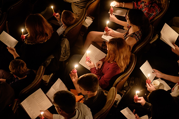 Wake Forest University hosts its 51st annual Moravian Lovefeast holiday celebration in Wait Chapel on Sunday, December 6, 2015.