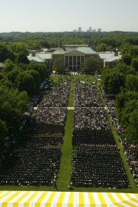 WFU Commencement ceremony
