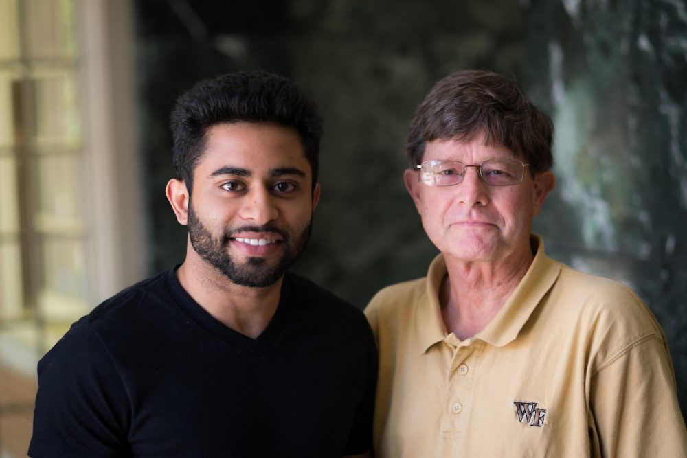 David Wilson (Mathematics) and Nayan Hussain (Philosophy major)