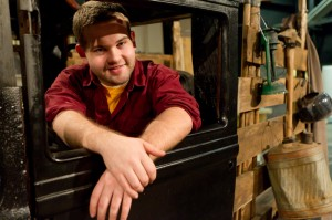 "Senior Perry Ransbottom is the prop manager for ""The Grapes of Wrath."""