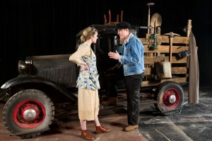 "Juniors Mackenzie Finnegan and James French in ""The Grapes of Wrath."""