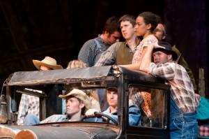 Actors on truck