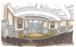 Another rendering of Kulynych Auditorium.