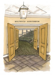 An artist's rendering of Kulynych Auditorium.
