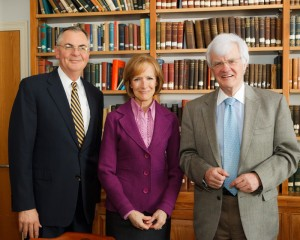 President Hatch with Judy Woodruff and Al Hunt.
