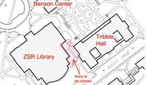 Map of area to be closed