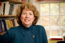 Wake Forest political science professor Katy Harriger poses in her office in Tribble Hall on Friday, November 4, 2011.