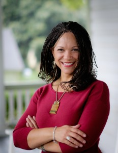 Wake Forest political science professor Melissa Harris-Perry poses in her home in Winston-Salem on Thursday, September 18, 2014.