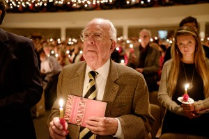 Wake Forest University hosts its 50th annual Lovefeast service in Wait Chapel on Sunday, December 7, 2014.