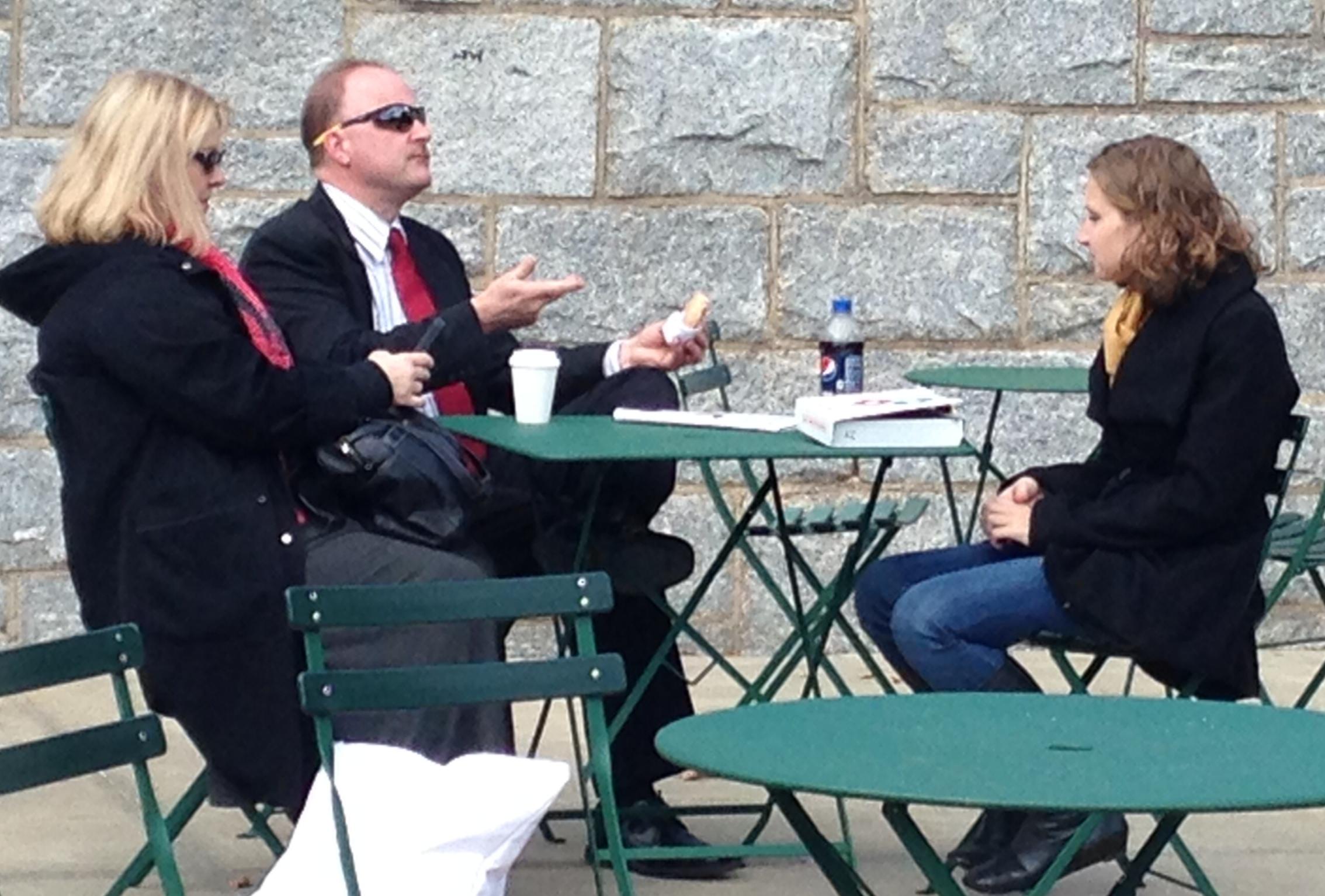 Senior Kelly Watson catches up with Professor Gunkel and Professor Dalton