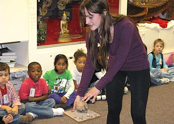 Teacher teaching curriculum