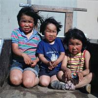 Three Yupik Children